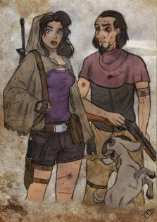 Esmeralda and Clophin and their Goat, Djali