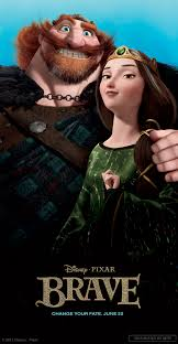 Queen Elinor, and King Fergus; Merida's Parents