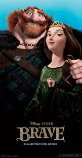 Queen Elinor, and King Fergus; Merida's Parents